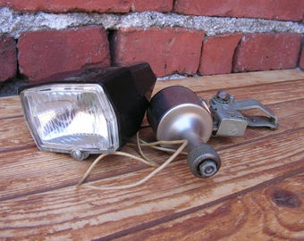 Vintage USSR dynamo and lamp Bicycle,  Soviet dynamo, Bicycle headlight, Bike collection, Old bike accessory, Bicycle tools