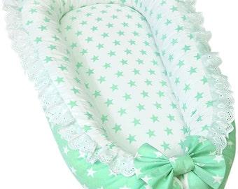 Baby Nest, Unisex Baby Nest, Mint Baby Nest, Nest for newborn, Newborn photo prop, Newborn nest, Baby bed, Nest bed, Baby Nest Bed