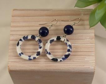 Dangling Earrings, Blue Earrings