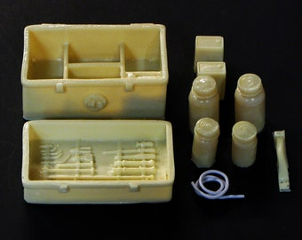 1:25 scale model funeral mortuary embalming kit