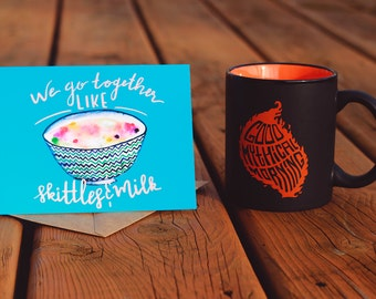 Good Mythical Morning | Love/Friendship | Valentine | Greeting Card | Rhett and Link | Youtube | Mythical Beast | Internet meme | Watercolor