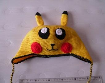 pikachu crochet Cap