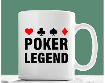 Poker Mug, Poker Legend, Poker Coffee Mug, Poker Gifts, Gifts For Poker Players, Poker Player Gifts, Poker Gift Ideas, Gifts For Poker Lover