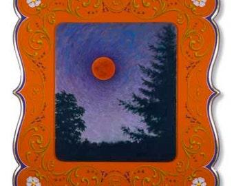 Total Eclipse - Poster - Moon landscape, fileteado