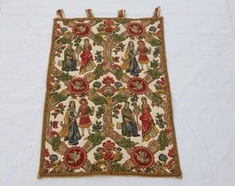 Vintage French Beautiful Medieval Style English Design Print Tapestry 035