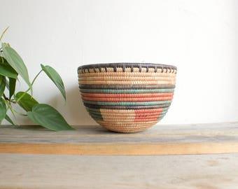 multicolored tribal bowl