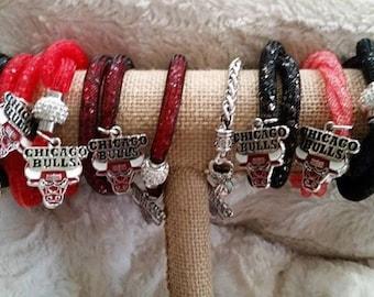Chicago Bulls Charm Bracelets OR necklace