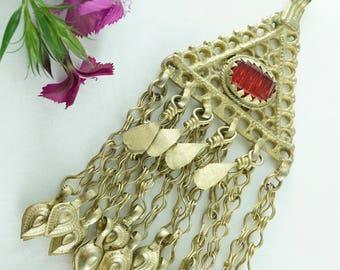 Alpaka Chandelier Handmade Pendant / Old Gold Plated
