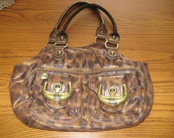 Kathy Van Zeeland Cloth Leopard Shoulder Bag