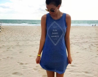 Sun Sand Margs -- Women's Graphic Tee Dress