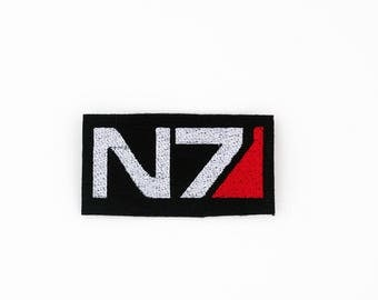 N7 Patch, Mass Effect N7 Patch, Fully Embroidered Patch, Video Game Patch, Cosplay Patch, Costume Accessory, Tactical Ops Logo, BioWare Game