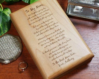 Personalized To My Mom... Mother's Day Valet Box Custom Name Gift