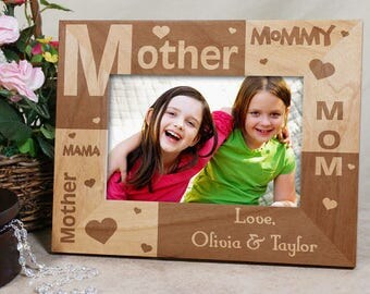 Personalized All About Mom Personalized Frame Custom Name Gift