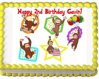 Curious George Moods Edible Cake Topper