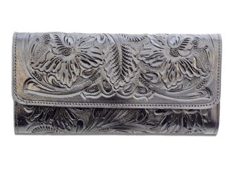 Hand Tooled Mexican Leather Wallet