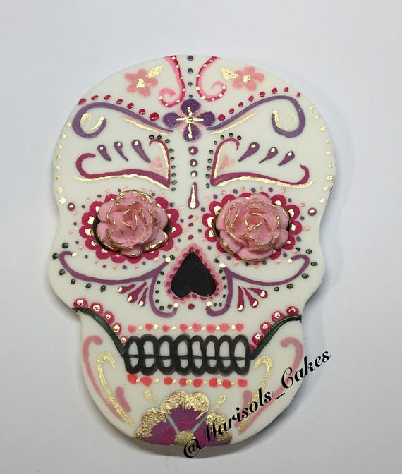 candy skull wedding cake toppers fondant sugar skull cake topper my sugar skulls 12353