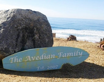 Surfboard Family Sign