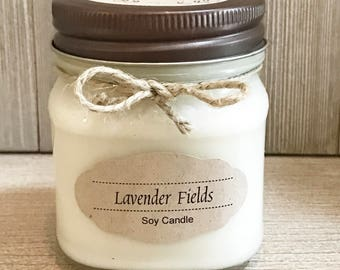 Lavender Fields Candle / Soy Candle /  Aromatherapy Candle