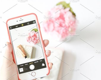 Styled Stock Photo | Taking Pictures With Phone | Blog stock photo, stock image, stock photography, blog photography