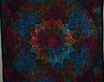 Free Shipping!!! Black Bright Multicolor Mandala Tapestries Indian Dorm Decor