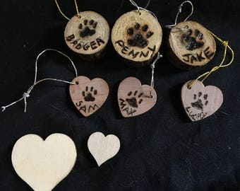 Help-A-Pup Upcycled Wooden Metal Tree Memorial Ornaments Set