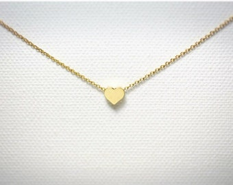 Dainty heart necklace//Gold plated//Minimalist//Simple//Dainty//GP003