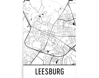 Leesburg Map, Leesburg Art, Leesburg Print, Leesburg VA Poster, Leesburg Wall Art, Map of Leesburg, Leesburg Decor, Leesburg Gift, Map Art
