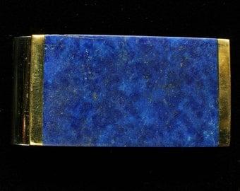 Lapis Lazuli Money Clip Inlay Gemstone Spring Steel