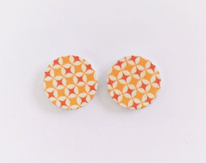 The 'Tanya' Wooden Handpainted Earring Studs