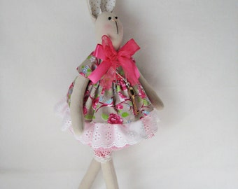 Bunny/ Tilda bunny/ Rabbit/ Bunny doll/ Tilda doll pattern/ Home decor/Stuffed toy/Canvas bunny/ Fabric bunny/ Handmade