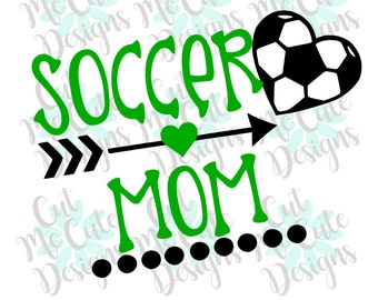 SVG DXF PNG cut file cricut silhouette cameo scrapbooking Soccer Mom