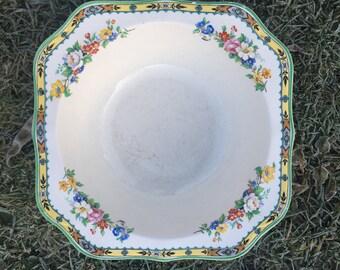 Art Deco Large vintage china bowl. English china bowl Paneek, Johnsons Bros