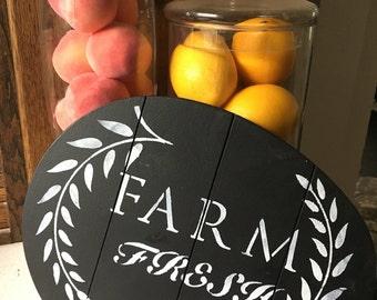 Farm Fresh kitchen sign