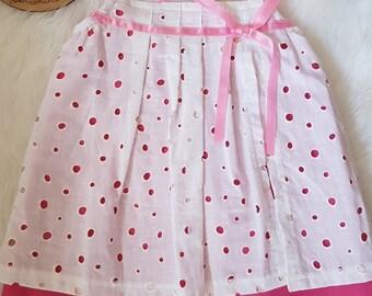 White and fuchsia cotton dress size 1
