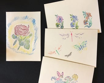 4 blank greeting cards