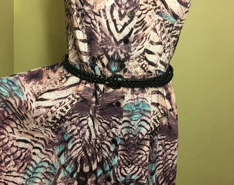 NEW Band of Gypsies fit to flare Bustier dress w/belt Size Small