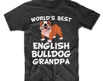 World's Best English Bulldog Grandpa Dog Owner T-Shirt