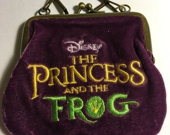 Disney The Princess and the Frog collectible velvet purse