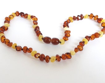 Honey cognac baltic amber teething necklace amber necklace for babies cognac honey amber teething necklace amber children necklace baby gift