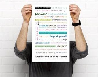 Travel Manifesto Print