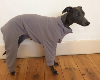 Whippet/Lurcher/Greyhound Fleece House Jumper Pyjamas Coat
