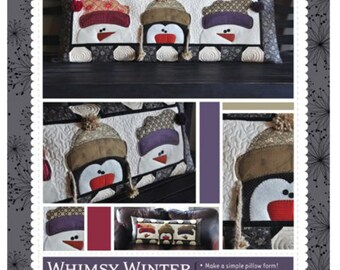 Whimsy Winter Bench Pillow by Kimberbell - pattern only