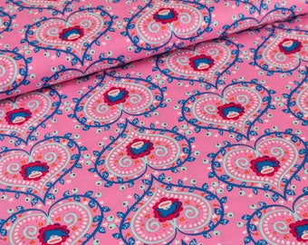 Cotton Mirabelle by Rebekah Ginda pink (11,50 EUR / meter)