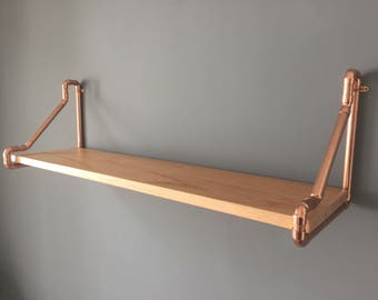 Copper Pipe Furniture large 3 shelf copper pipe and reclaimed wood unit