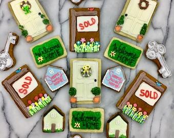 Realtor cookies, New Home Cookies, Housewarming Cookies