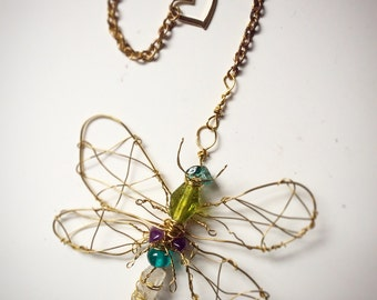 Quartz Point Bejewelled Dragonfly CUSTOM MADE