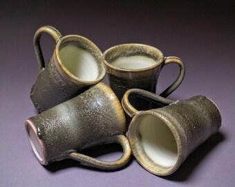 Handmade Ceramic Earthy Mug Set (4)
