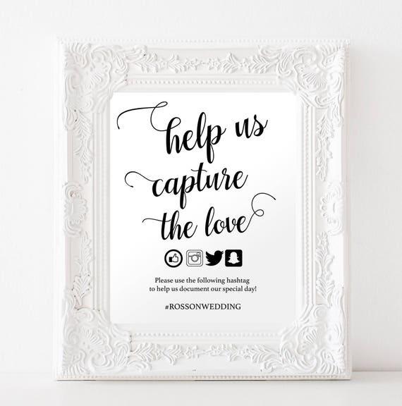 social media signs for weddings