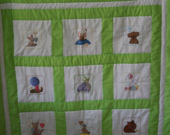 Cot quilt for boy or girl
