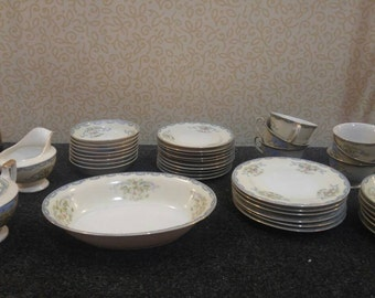 40-Piece Empress China (made in Japan) Hand Painted Dinnerware Set